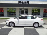 2015 Oxford White Ford Fusion Hybrid SE #103869215