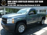 2012 Blue Granite Metallic Chevrolet Silverado 1500 LS Regular Cab 4x4 #103937907