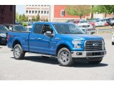 2015 Blue Flame Metallic Ford F150 XLT SuperCab 4x4 #103937750