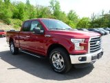 2015 Ruby Red Metallic Ford F150 XLT SuperCab 4x4 #103975700