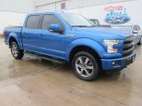 2015 Blue Flame Metallic Ford F150 Lariat SuperCrew 4x4 #104006870