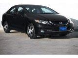 2015 Crystal Black Pearl Honda Civic Hybrid-L Sedan #104006951