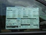 2015 Chevrolet Silverado 1500 LTZ Z71 Crew Cab 4x4 Window Sticker