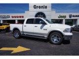 2015 Bright White Ram 1500 Laramie Crew Cab 4x4 #104062033