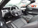 2015 Ford Mustang GT Premium Convertible Ebony Interior