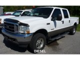 2004 Oxford White Ford F250 Super Duty Lariat Crew Cab 4x4 #104198672