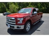 2015 Ruby Red Metallic Ford F150 Lariat SuperCrew 4x4 #104198653
