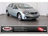 2015 Green Opal Metallic Honda Civic Hybrid Sedan #104253636