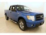 2014 Blue Flame Ford F150 STX SuperCab 4x4 #104284705