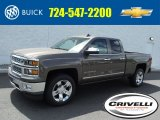 2015 Brownstone Metallic Chevrolet Silverado 1500 LTZ Double Cab 4x4 #104284670