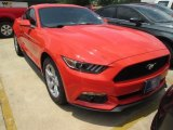 2015 Competition Orange Ford Mustang EcoBoost Coupe #104323125