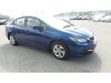 2015 Dyno Blue Pearl Honda Civic LX Sedan #104381415