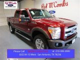 2015 Ruby Red Ford F250 Super Duty Lariat Crew Cab 4x4 #104409310