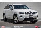 2014 Bright White Jeep Grand Cherokee Overland #104439688