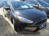 2015 Tuxedo Black Metallic Ford Focus S Sedan #104480926