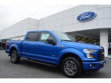 2015 Blue Flame Metallic Ford F150 XLT SuperCrew #104481087