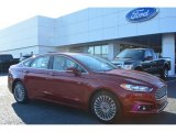 2015 Ruby Red Metallic Ford Fusion Titanium #104603348
