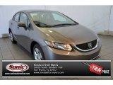 2015 Urban Titanium Metallic Honda Civic LX Sedan #104645073
