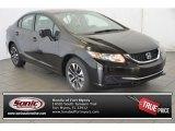 2015 Crystal Black Pearl Honda Civic EX Sedan #104645070
