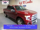 2015 Ruby Red Metallic Ford F150 Platinum SuperCrew 4x4 #104676556