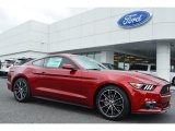 2015 Ruby Red Metallic Ford Mustang EcoBoost Coupe #104715436