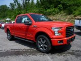 2015 Race Red Ford F150 XLT SuperCab 4x4 #104715344