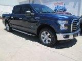 2015 Blue Jeans Metallic Ford F150 XLT SuperCrew #104774980