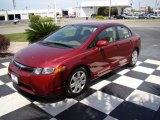 2007 Tango Red Pearl Honda Civic LX Sedan #10475302
