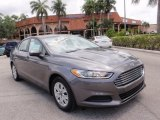 2013 Sterling Gray Metallic Ford Fusion S #104798739