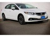 2015 White Orchid Pearl Honda Civic EX-L Sedan #104798849
