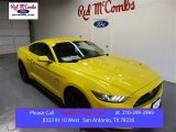 2015 Triple Yellow Tricoat Ford Mustang GT Coupe #104865090