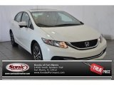 2015 Taffeta White Honda Civic EX Sedan #104865012