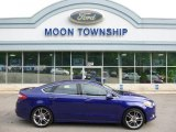 2013 Deep Impact Blue Metallic Ford Fusion Titanium AWD #104865214