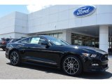 2015 Black Ford Mustang EcoBoost Coupe #104865184