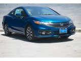 2015 Dyno Blue Pearl Honda Civic EX-L Coupe #104956376