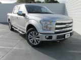 2015 Ingot Silver Metallic Ford F150 Lariat SuperCrew 4x4 #104961178