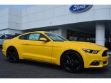 2015 Triple Yellow Tricoat Ford Mustang EcoBoost Coupe #105051538