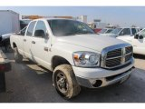 2008 Bright White Dodge Ram 3500 SLT Quad Cab 4x4 #105051802