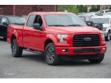 2015 Race Red Ford F150 XLT SuperCab 4x4 #105051552