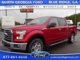 2015 Ruby Red Metallic Ford F150 XLT SuperCrew 4x4 #105081865