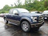 2015 Blue Jeans Metallic Ford F150 Lariat SuperCab 4x4 #105082139