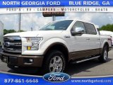 2015 White Platinum Tricoat Ford F150 Lariat SuperCrew 4x4 #105081848