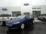 2016 Deep Impact Blue Metallic Ford Fusion SE #105082363