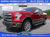 2015 Ruby Red Metallic Ford F150 Lariat SuperCrew 4x4 #105081839