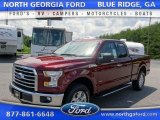 2015 Bronze Fire Metallic Ford F150 XLT SuperCab 4x4 #105081838
