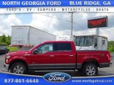 2015 Ruby Red Metallic Ford F150 XLT SuperCrew 4x4 #105081822