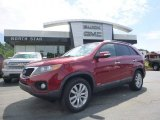 2011 Spicy Red Kia Sorento LX V6 AWD #105151409