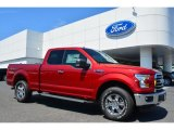 2015 Ruby Red Metallic Ford F150 XLT SuperCab 4x4 #105151401