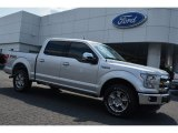 2015 Ingot Silver Metallic Ford F150 Lariat SuperCrew 4x4 #105175842
