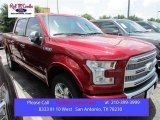 2015 Ruby Red Metallic Ford F150 Platinum SuperCrew 4x4 #105175705